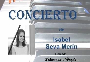 CONCIERTO de Isabel Seva Merín Obras de Schumann y Haydn