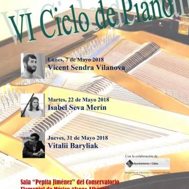 "VI Ciclo de Piano Conservatorio Elemental de Música ""Isaac Albéniz"""