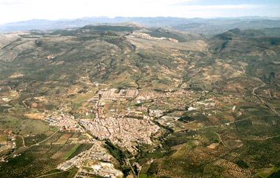 Vista aérea de Cabra