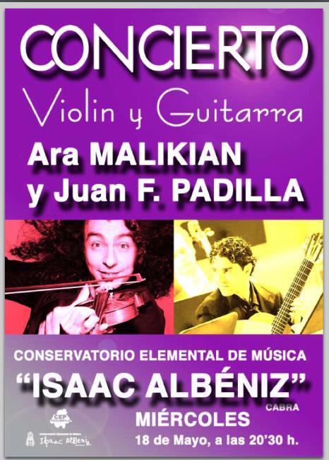 Concierto Extraordinario de Ara Malikian y Juan Francisco Padilla