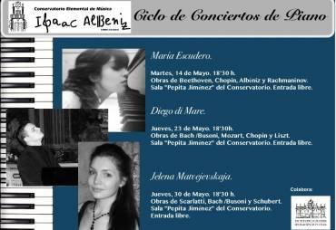Ciclo de conciertos de piano en mayo
