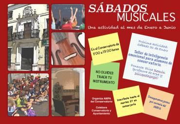 """No te pierdas los """"Sábados Musicales en el Conservatorio"""""""