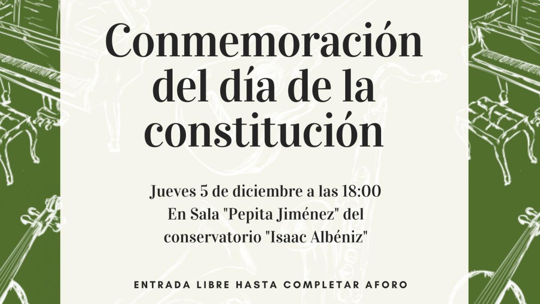 Conmemoración del día de la constitución