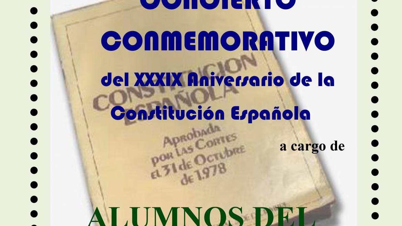 CONCIERTO CONMEMORATIVO del XXXIX Aniversario de la Constitución Española.