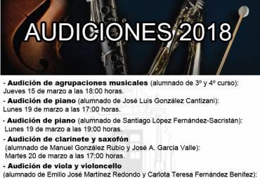 "Audiciones Conservatorio Elemental de Música ""Isaac Albéniz"""