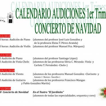 Calendario Primer Trimestre
