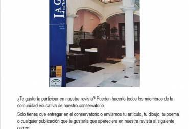 """Nuevo número de la Gaceta del """"Isaac Albéniz""""."""