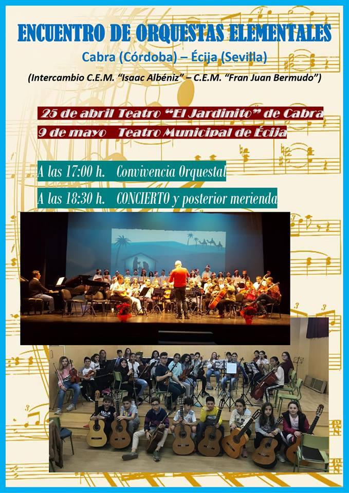 Encuentro de Orquestas Elementales con elConservatorio Écija Fray Juan Bermudo