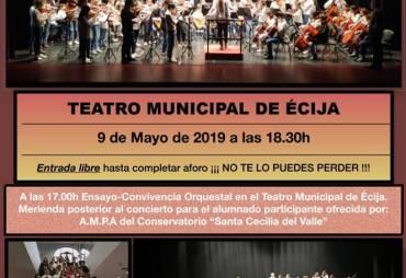 """ENCUENTRO DE ORQUESTAS con el Conservatorio Elemental de Música """"Fray Juan Bermudo"""""""