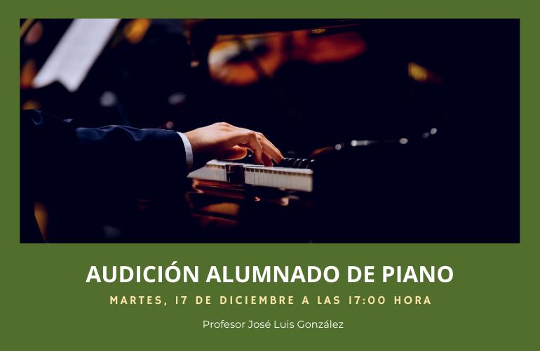Audición de piano del alumnado de José Luis González