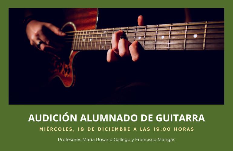 Audición del alumnado de guitarra