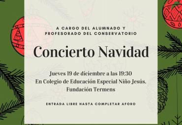 """Concierto Navidad en """"Colegio de Educación Especial Niño Jesús. Fundación Termens"""" de Cabra"""