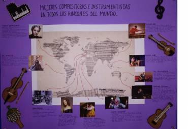 "Concurso de Murales titulado ""Compositoras e Intérpretes Femeninas"""